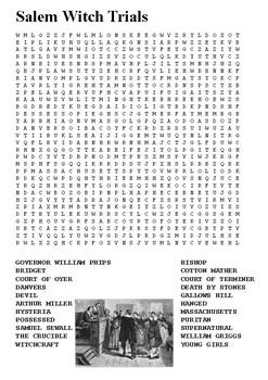 Salem Witch Trials Word Search