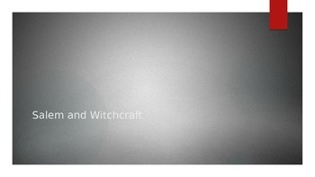 Salem and Witchcraft