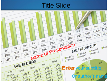 Sales Chart PPT Template
