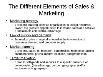 Sales & Marketing, and Marketing Segments of the Hospitality Industry Notes