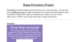 Sales Promotions Project