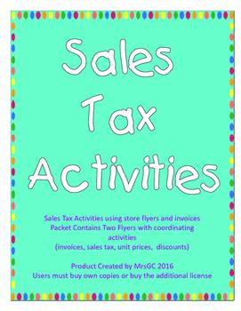 Sales Tax Activities