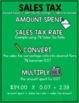Sales Tax Anchor Charts