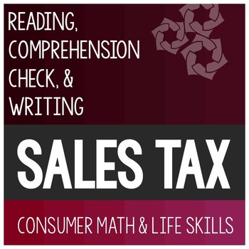 Sales Tax Article- Consumer Math Special Education