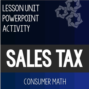 Sales Tax Lesson PowerPoint Activity Consumer Math Life Skills Special Education