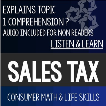Sales Tax Listen and Learn- Consumer Math Special Education