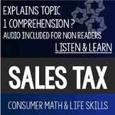Sales Tax Bundle PowerPoint- Special Education High School