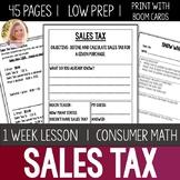 Sales Tax Bundle- Special Education High School