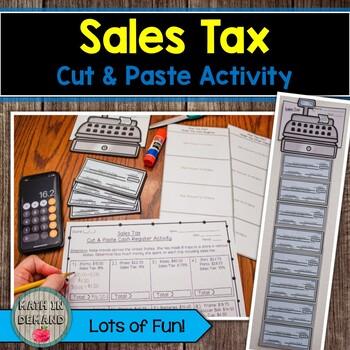 Sales Tax Cut & Paste Activity
