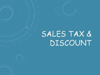 Sales Tax & Discount: Notes, Examples & Independent Practice