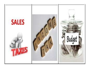 Sales Tax, Income Tax & Monthly Budget Foldable