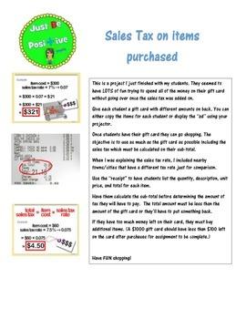 Sales Tax Project