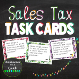 Sales Tax Task Cards