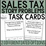 Sales Tax  Task Cards (word/ story problems)