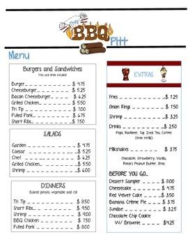 Sales Tax, Tip, Discounts at the BBQ Pitt