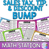 Sales Tax, Tip, and Discount Math Station Bump
