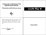 Sales Tax, Tip and Discount Notes interactive note book