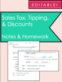 Sales Tax, Tipping, & Discounts