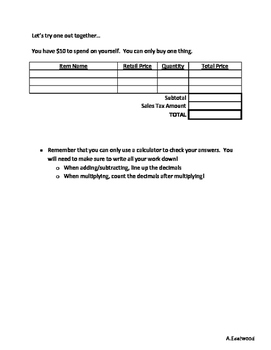 Sales Tax and Problem Solving
