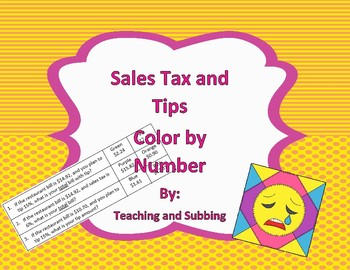 Sales Tax and Tip Color by Number