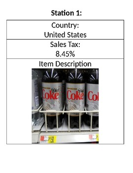 Around the World in 80 Days: Sales Tax and Total Cost Activity