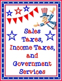 Sales Taxes, Income Taxes, and Government Services Vocabulary Game