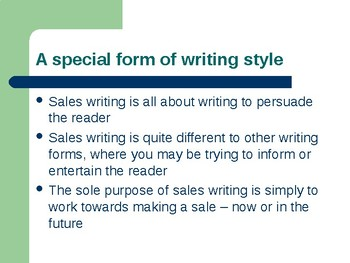 Using Persuasive Writing at Work - Sales and Advertising Powerpoint