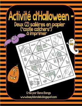 """{Salières en papier pour l'Halloween!} French """"cootie catchers"""" printable"""