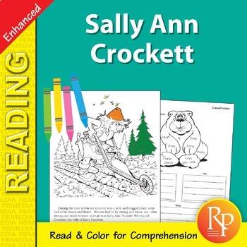 Sally Ann Crockett: Read & Color - Enhanced