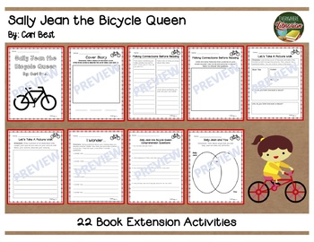 Sally Jean the Bicycle Queen by Cari Best 22 Book Extension Activities