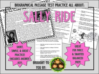 Sally Ride-Biographical Passage Practice
