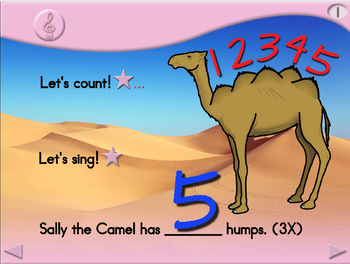 Sally the Camel - Animated Step-by-Step Song - Regular