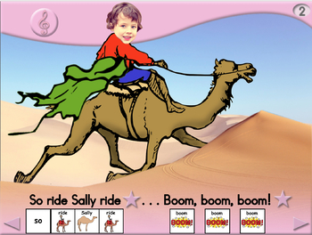 Sally the Camel - Animated Step-by-Step Song - SymbolStix