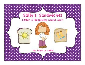 Sally's Sandwiches - Letter S Beginning Sound Sort