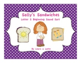 Sally's Sandwiches - Letter S Beginning Sound Sort