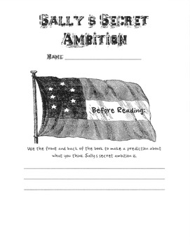 Sally's Secret Ambition Guided Reading Packet