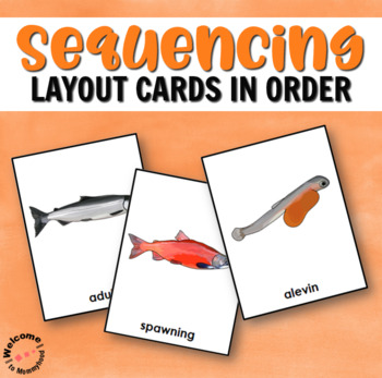 Salmon Fish Life Cycle with 3 Part Cards, Spinner, Poster & Information Cards!