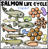 Salmon Life Cycle Clip Art - Whimsy Workshop Teaching