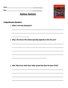 Salmon Summer Comprehension Questions