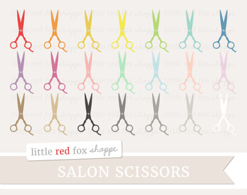 Salon Scissors Clipart; Makeup