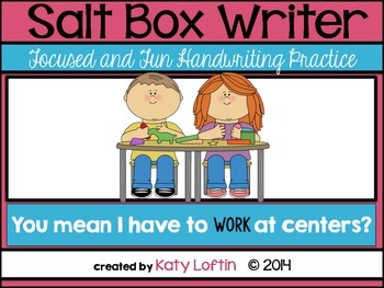 Salt Box Writer: Fun and Focused Center Activities