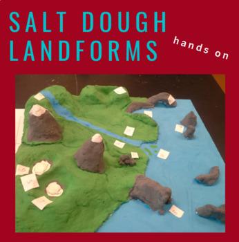 Salt Dough Landforms Model - Weathering, Erosion, Deposition Project