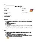 Salt Dough Recipe and Reading Comprehension Questions