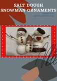Salt Dough Snowman Ornaments
