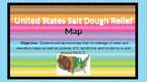 Salt Dough U.S. Relief / Elevation Map