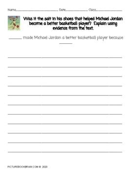 Salt In His Shoes by Deloris Jordan Lesson Plan and Activities