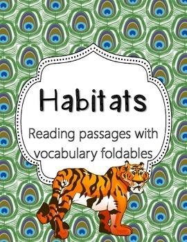 Habitats- Foldables for Science Journals