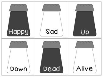 Salt & Pepper Antonyms (Opposites)