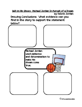 Salt in His Shoes Comprehension, Inference, Reflective Writing Packet