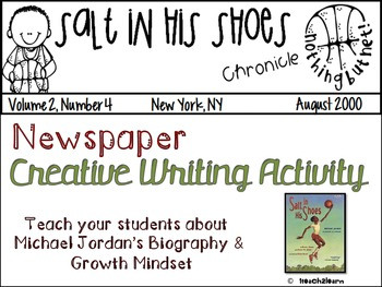 Salt in his Shoes: Newspaper Creative Writing Activity& Gr